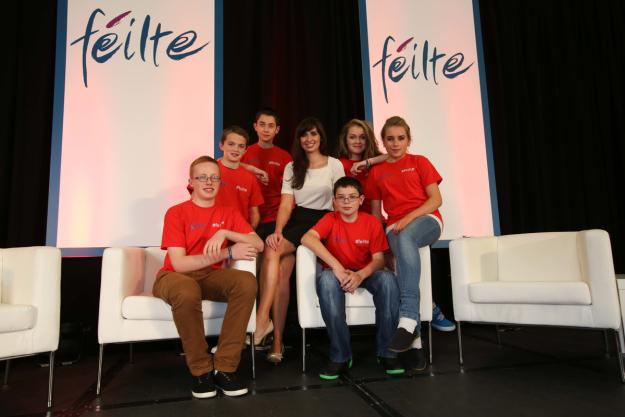 The team with Aoibhinn Ní Suilleabháin