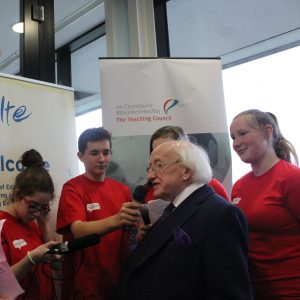 Michael D Higgins and YMTfm